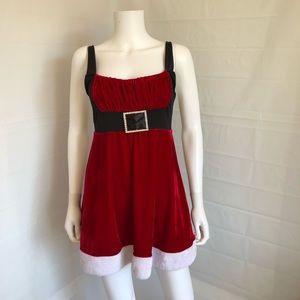 Fredericks of Hollywood Christmas Velvet Dress L